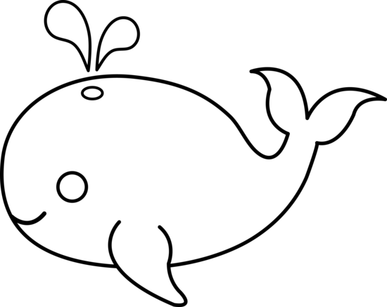 Blue clipart black and white Whale Panda Art Clipart Free
