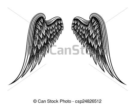 Drawn angel logo #6