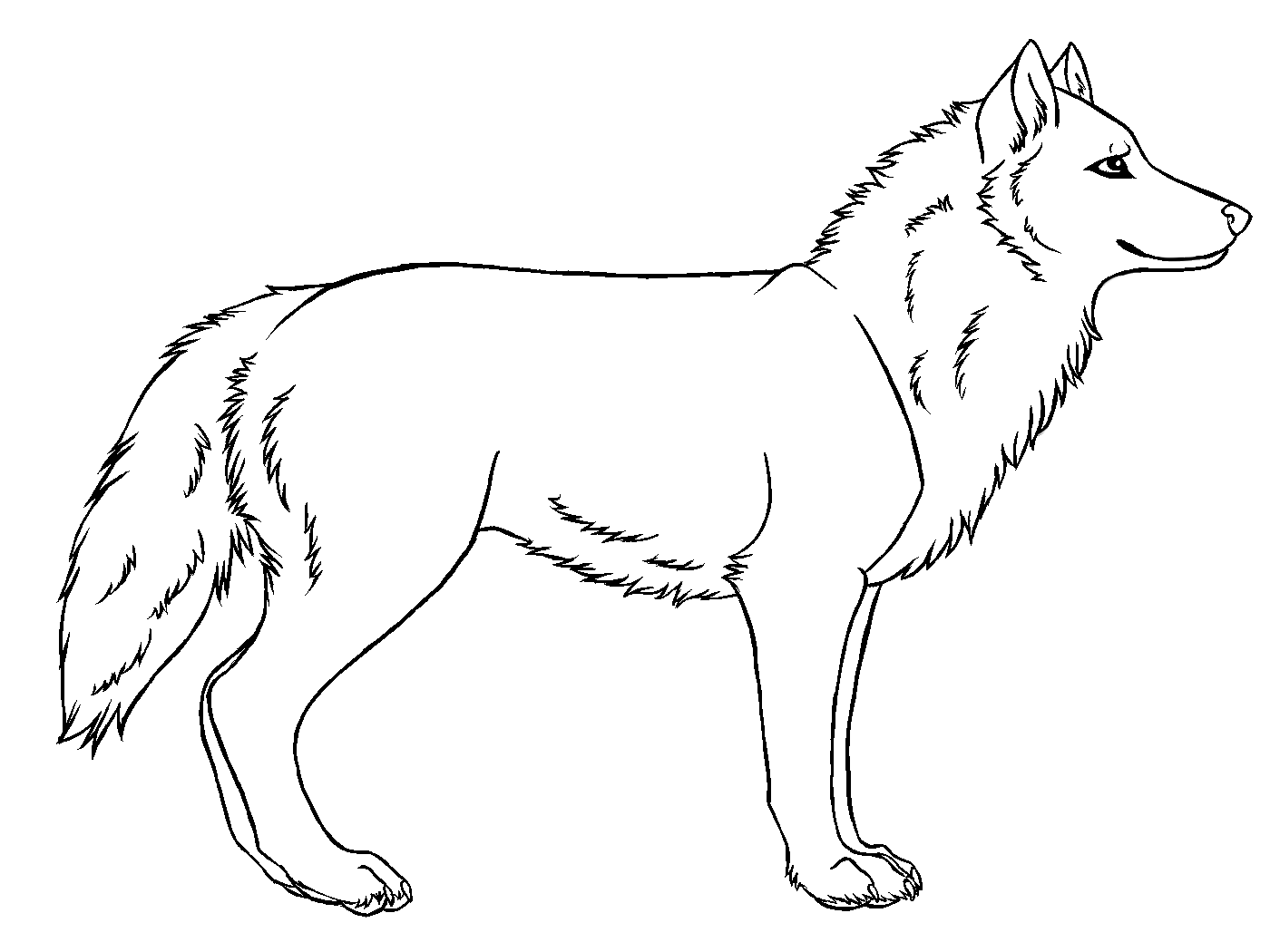 Wolf clipart basic Simple Art Drawings Of Free