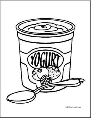 Yogurt clipart black and white Clip Cliparts Cliparts for Library