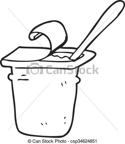 Yogurt clipart black and white Drawn Clipart white yogurt black