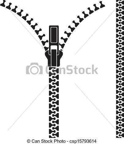 Drawn zipper realistic Zipper csp15793614 Open Open zipper