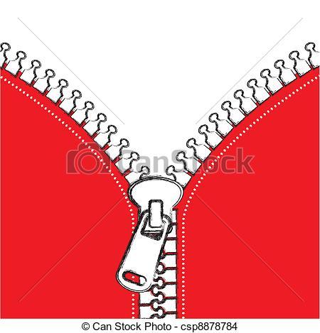 Drawn zipper realistic Grunge vector vector Vector zip