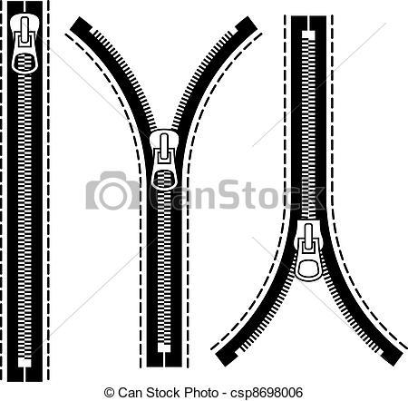 Zipper clipart Art zipper Clip Vector of