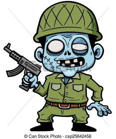 Zombie clipart cartoon Vector Zombie of of Clipart