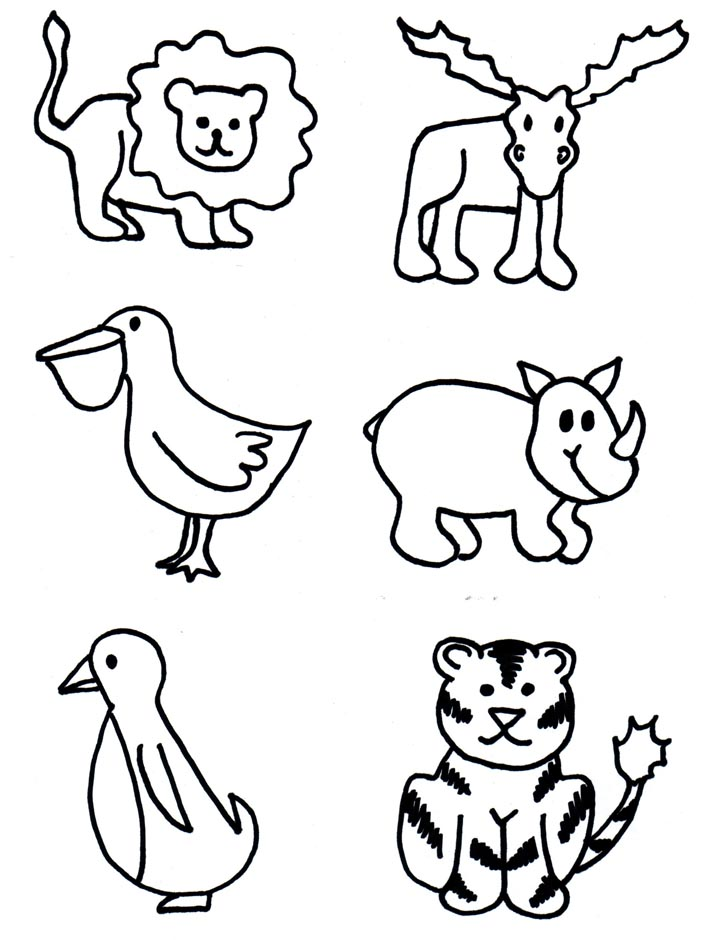 Zoo clipart easy animal Printable Chapter Drawings Programs TSLAC
