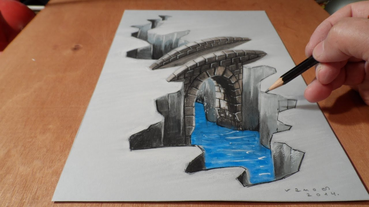 Drawn 3d art really Bridge to  Art 3D