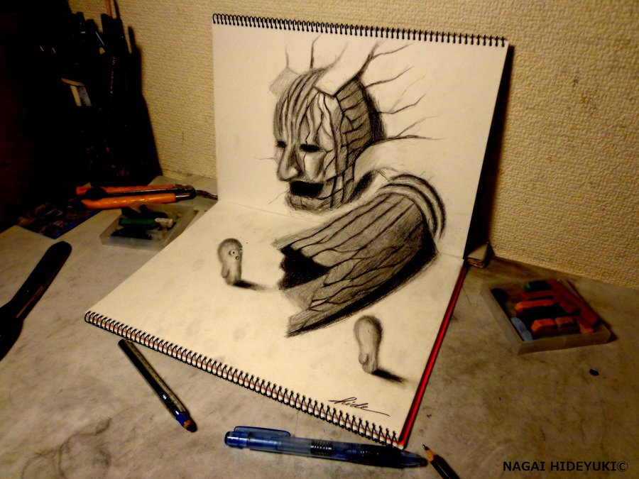 Drawn 3d Drawing dubious Entrance by