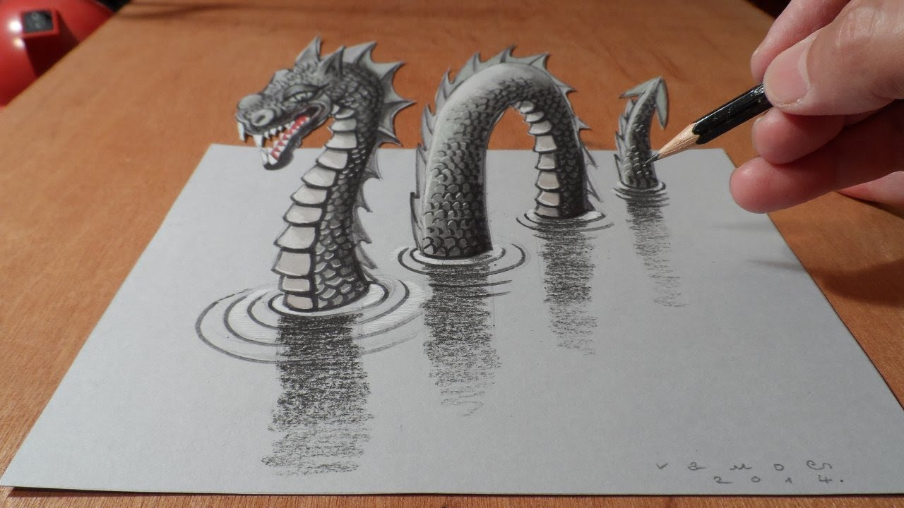Drawn paper realistic #14