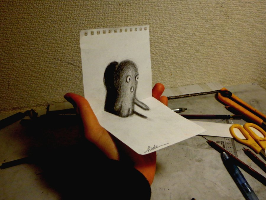 Drawn 3d art really 3D DeviantArt by NAGAIHIDEYUKI 3D