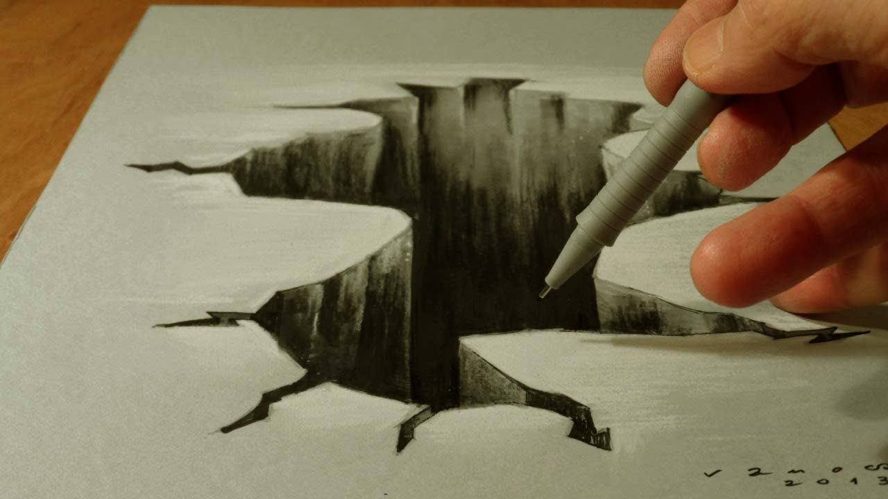 Drawn 3d art To 3D Paper Hole How