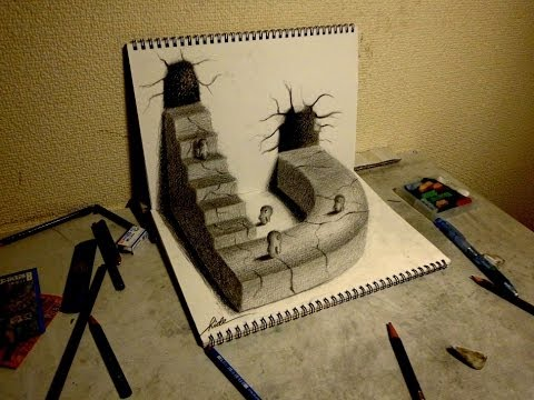 Drawn 3d art 3d animation To pencil draw to Drawing