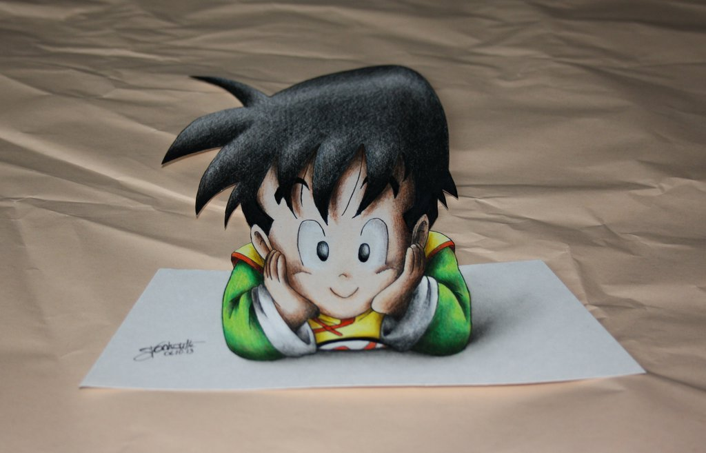 Drawn 3d art 3d animation Gohan Colored on Art! by