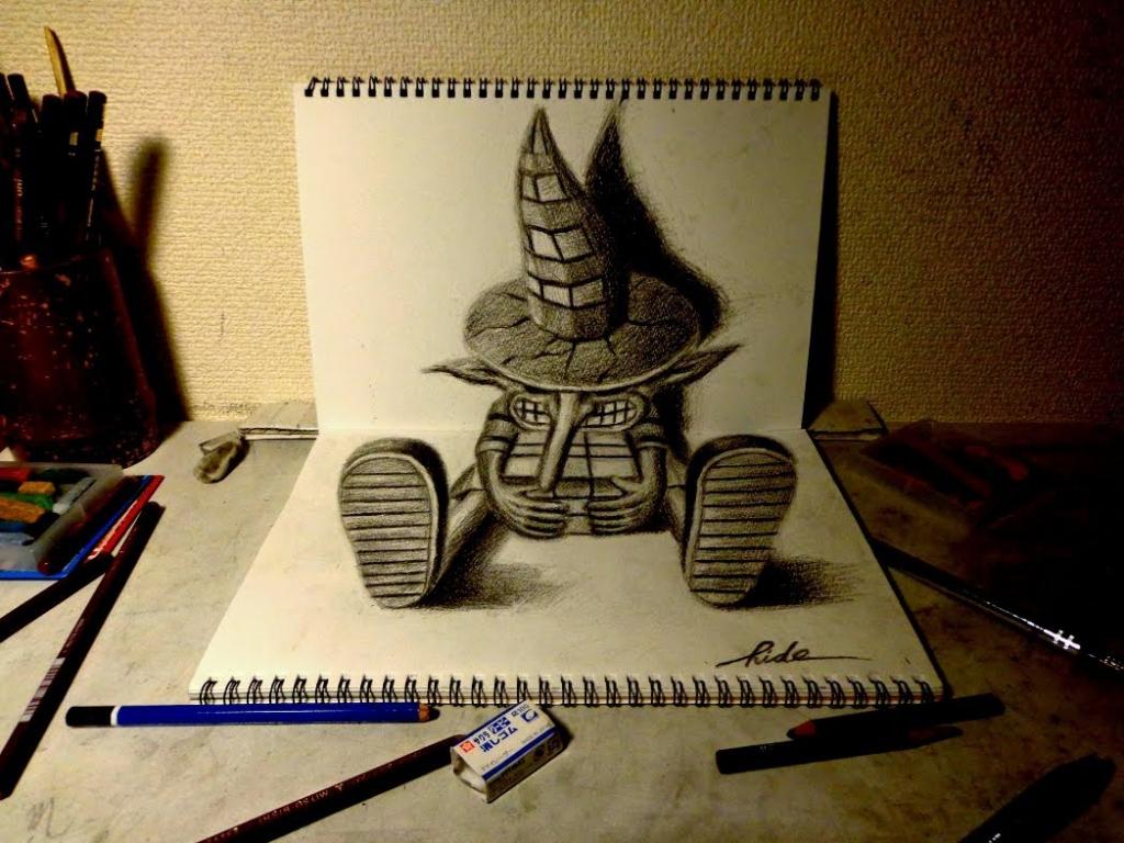 Drawn 3d art 3d animation Amazing 3D Illusion Animation Hand