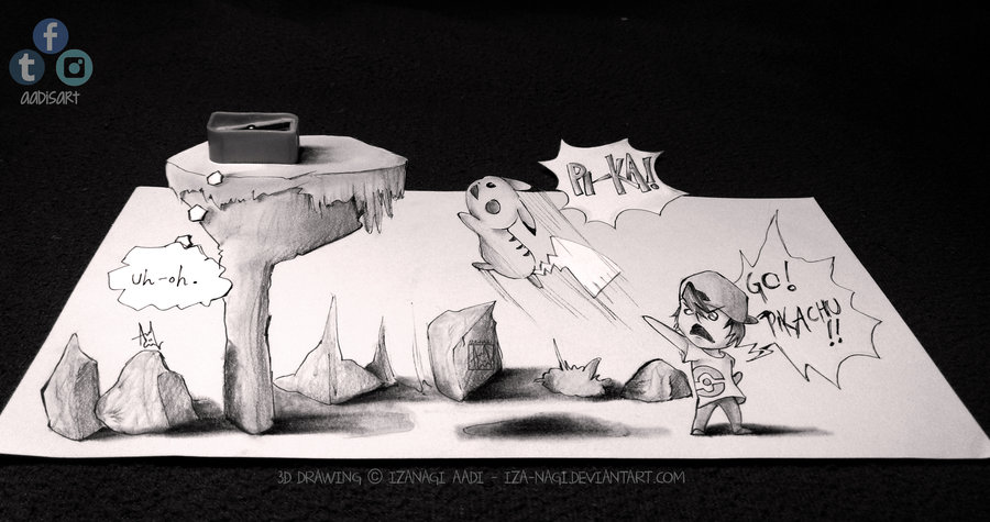 Drawn 3d art 3d animation By Iza Drawing DeviantArt Paper
