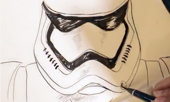 Drawn 3d art 3d animation Watch 3D this Awakens have