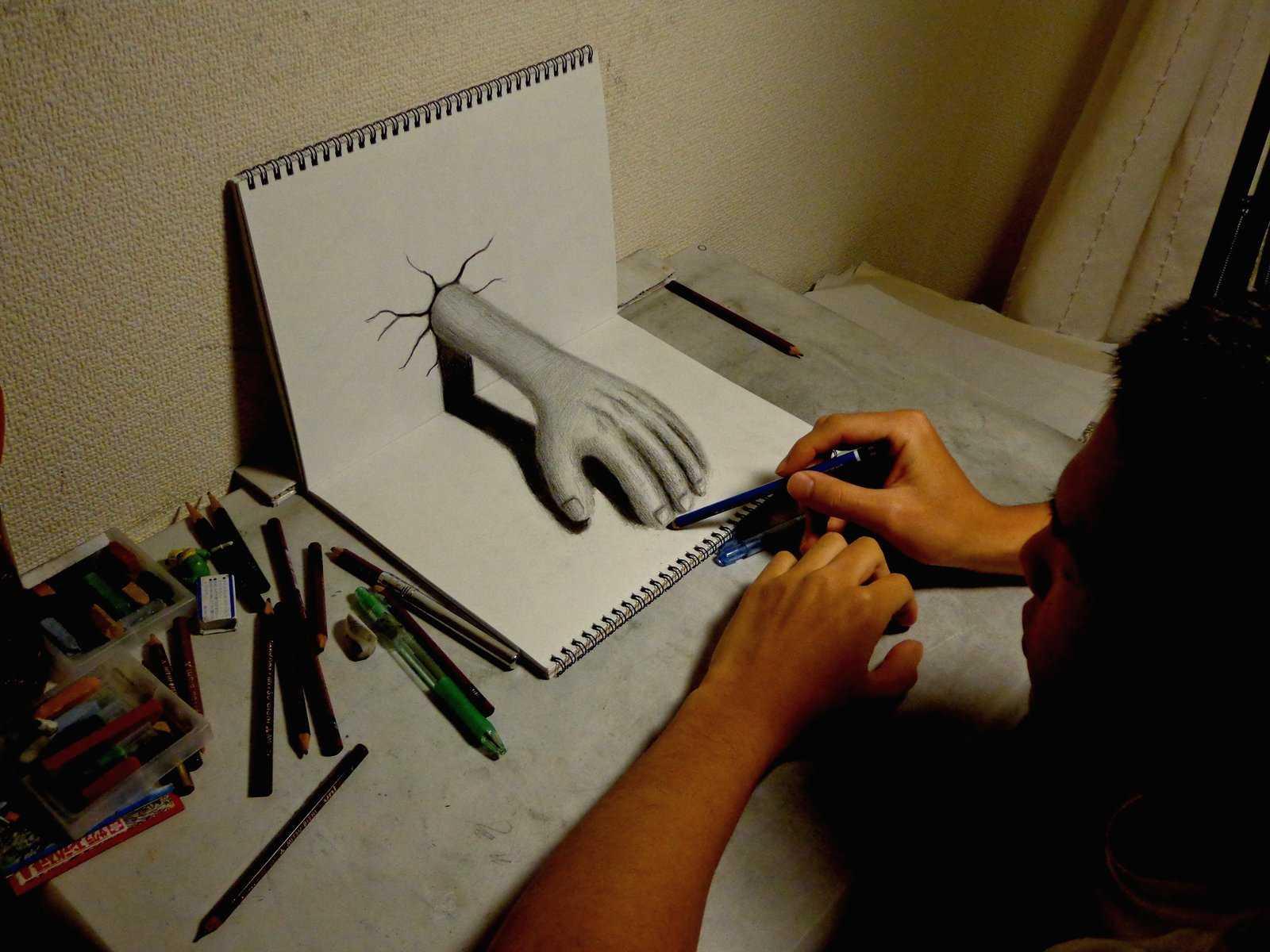 Drawn 3d art pencil HIDEYUKI 3D pencil  HIDEYUKI