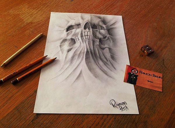 Drawn 3d art airbrush #9