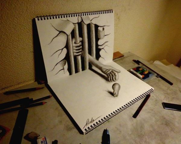 Drawn 3d art airbrush #11