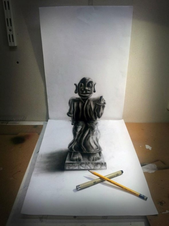 Drawn 3d art airbrush #10