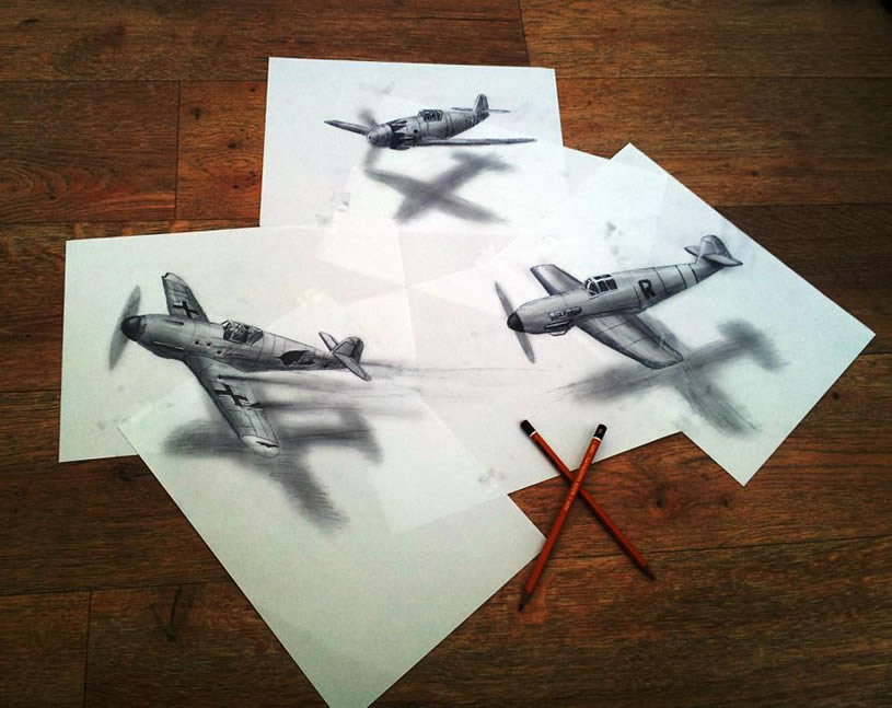 Drawn 3d art airbrush #5