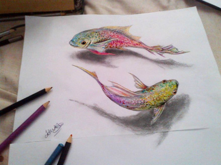 Drawn 3d art awesome My to hard It's drawing