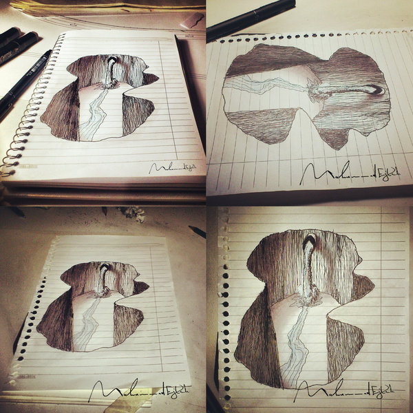 Drawn 3d art different angle #11