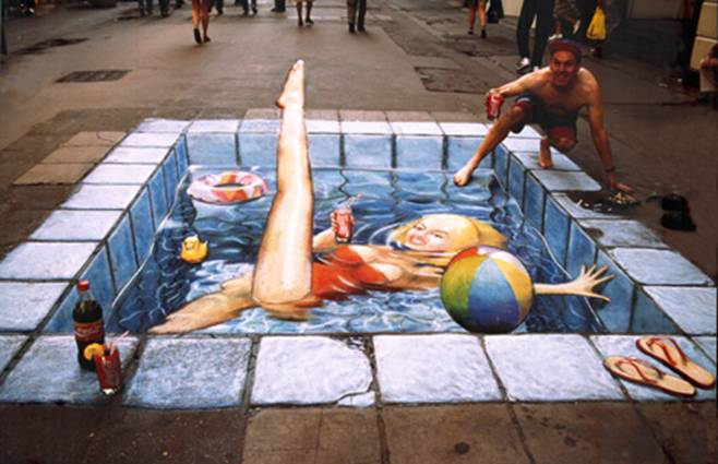 Drawn 3d art different angle #4