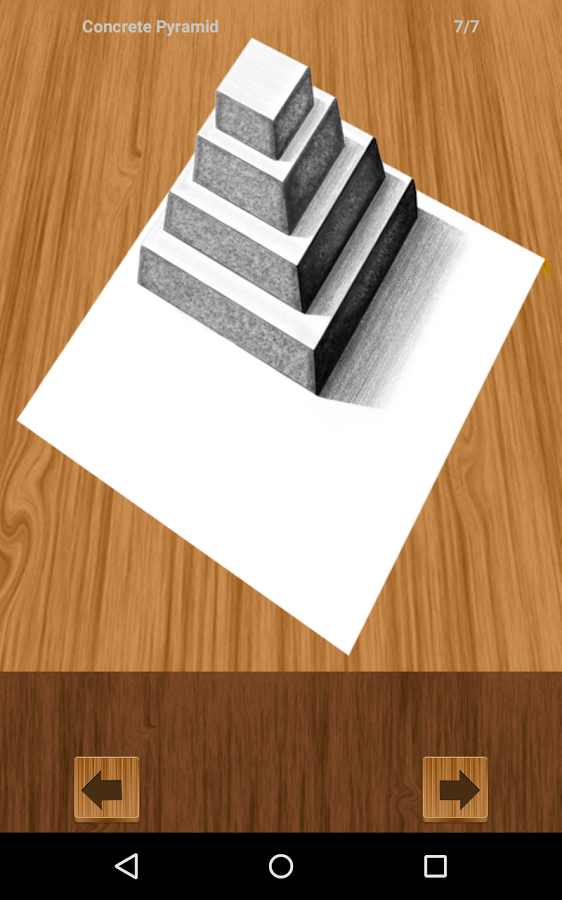 Drawn stairs bridge 3D screenshot Android Draw How