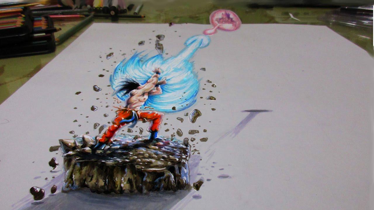 Drawn 3d art epic Dragon  ball Drawing YouTube