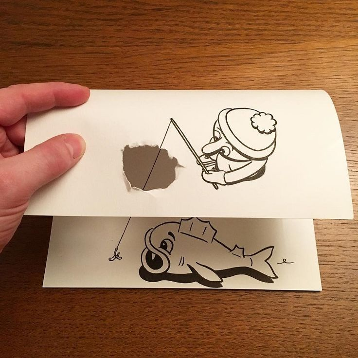 Drawn 3d art finger #8