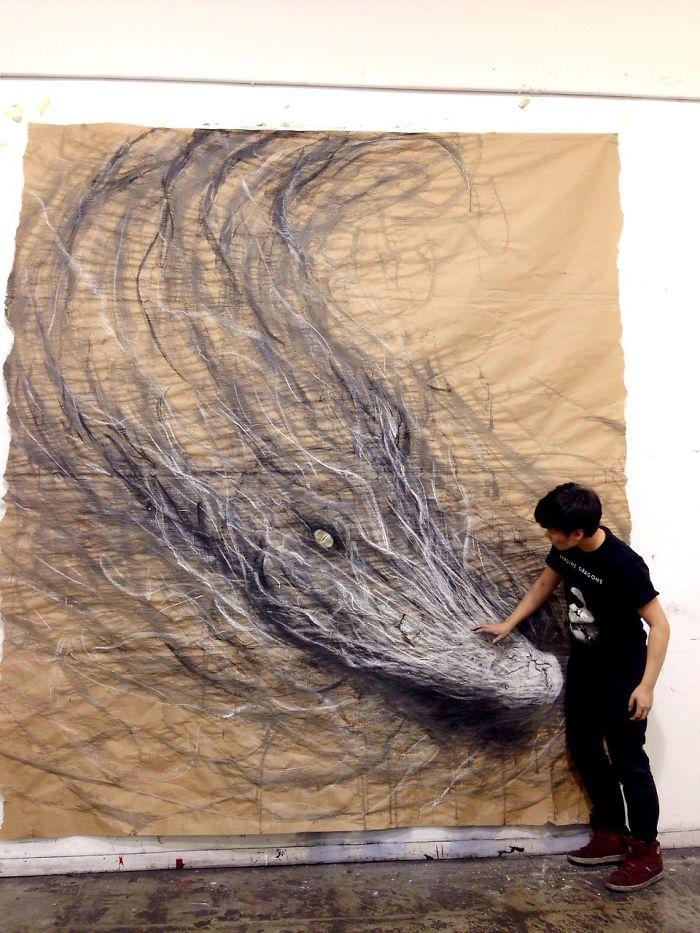 Drawn 3d art fiona tang Ferocious The Ferocious Paper The