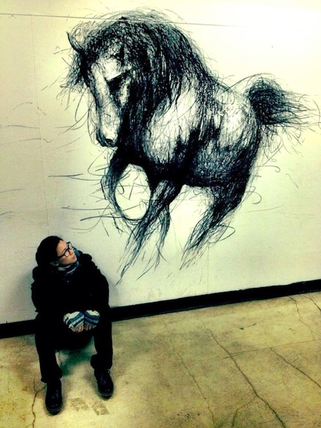 Drawn 3d art fiona tang Off 3D the Right Wall