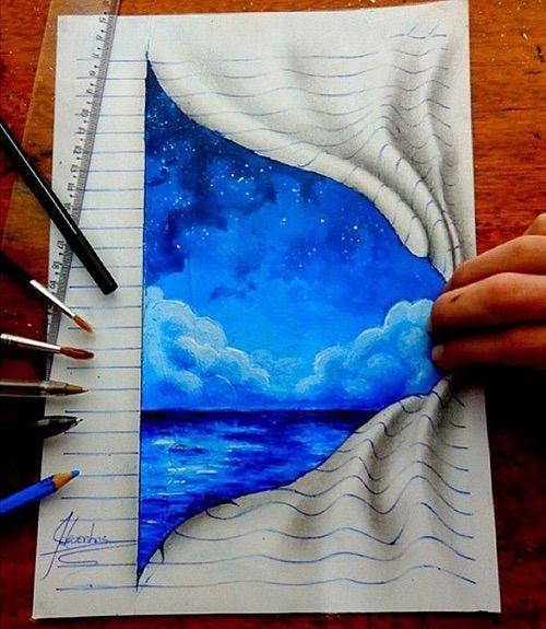 Drawn 3d art heart Ideas heart #drawing Afbeelding it