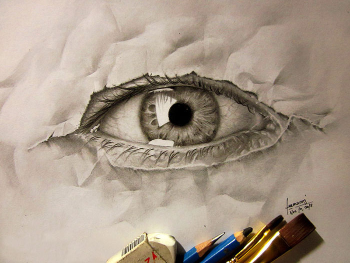 Drawn 3d art illusion Drawings My Struggle jerameel My