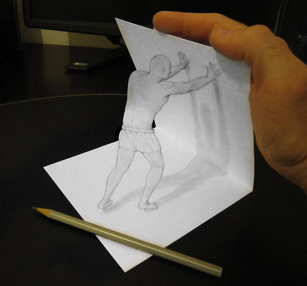 Drawn 3d art illusion 3D 3d  Off Italian