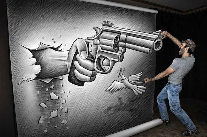 Drawn 3d art incredible #4