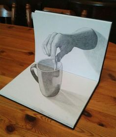 Drawn 3d art incredible #9