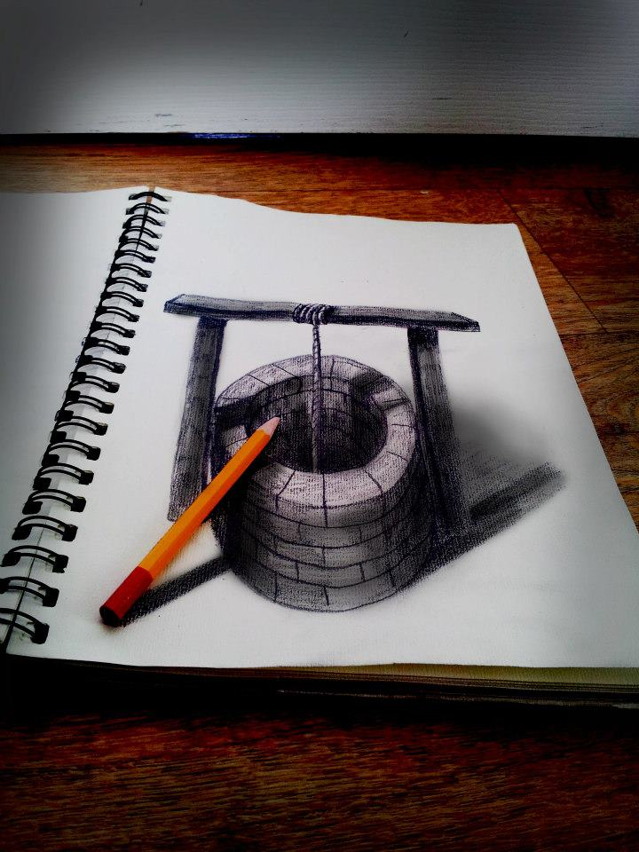 Drawn 3d art incredible #3
