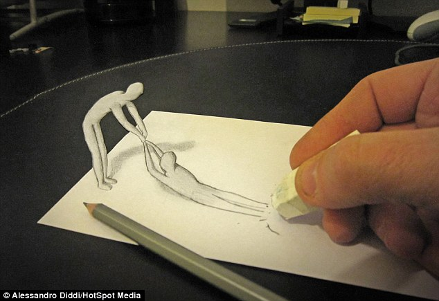 Drawn 3d art incredible These Incredible Check men slithering
