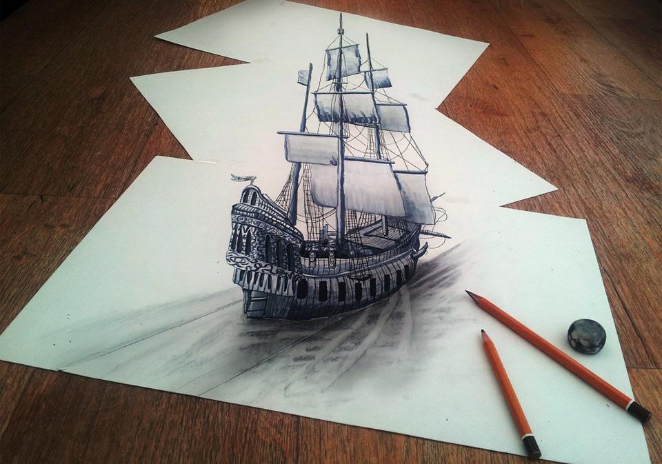 Drawn 3d art mind blowing #9