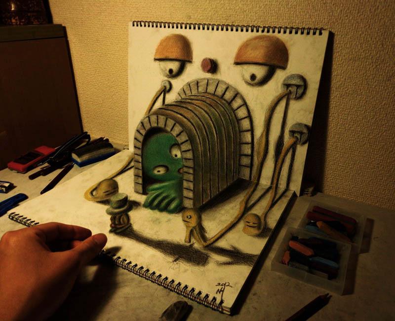 Drawn 3d art mind blowing #6