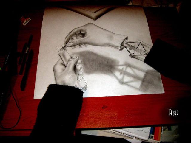 Drawn 3d art mind blowing #10