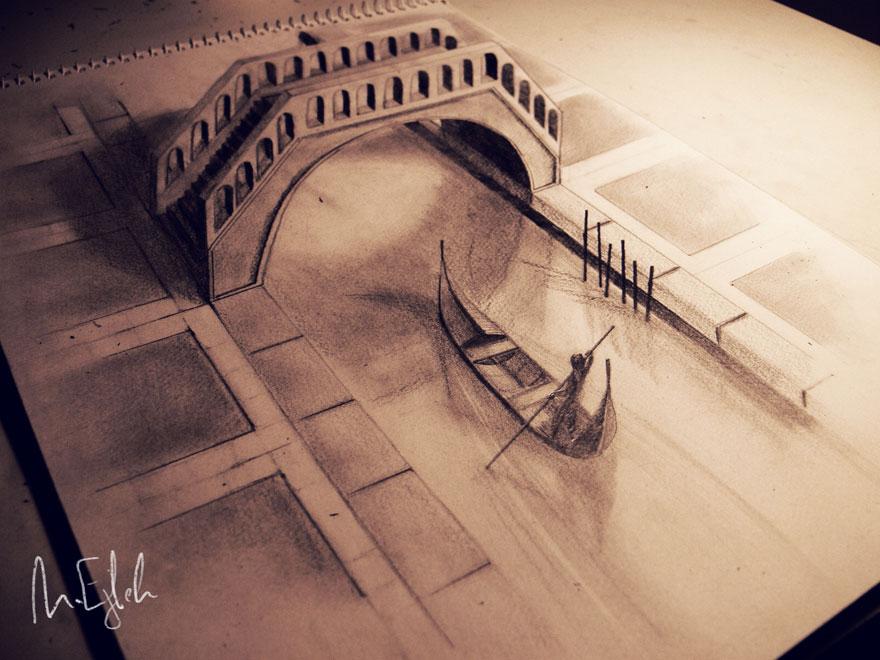 Drawn 3d art mind blowing #12