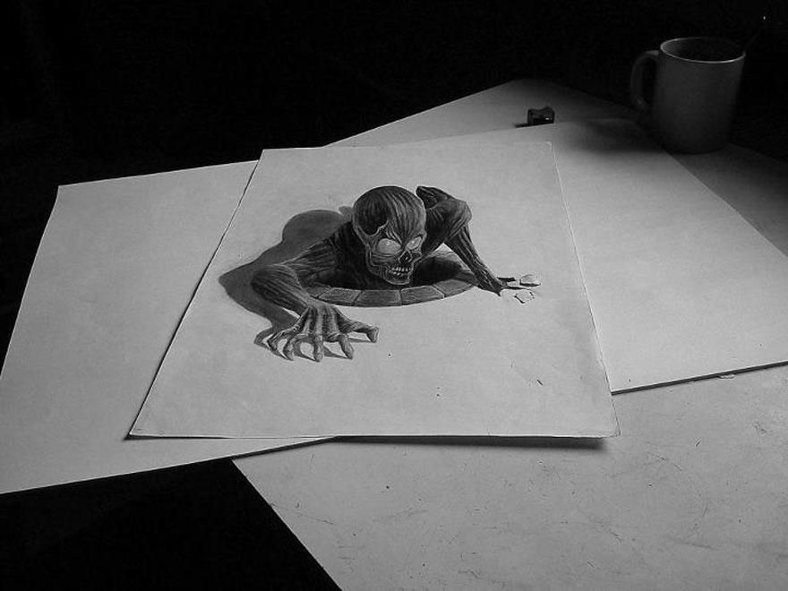 Drawn 3d art mind blowing #2