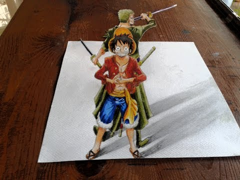 Drawn 3d art one piece And piece 3D One Zoro