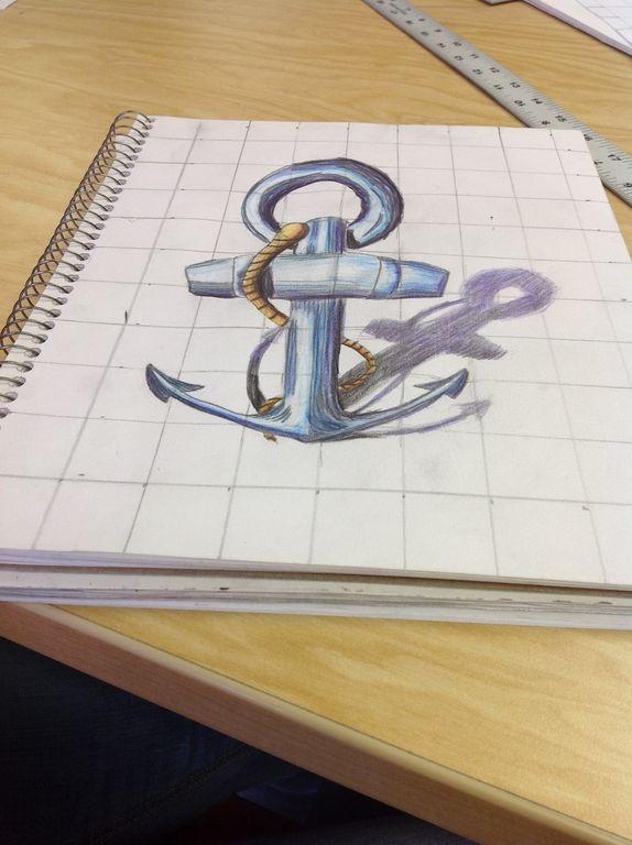 Drawn 3d art one piece High 128 3D School: of
