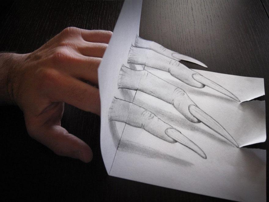 Drawn 3d art paper Drawn Art 3d 3d Drawn