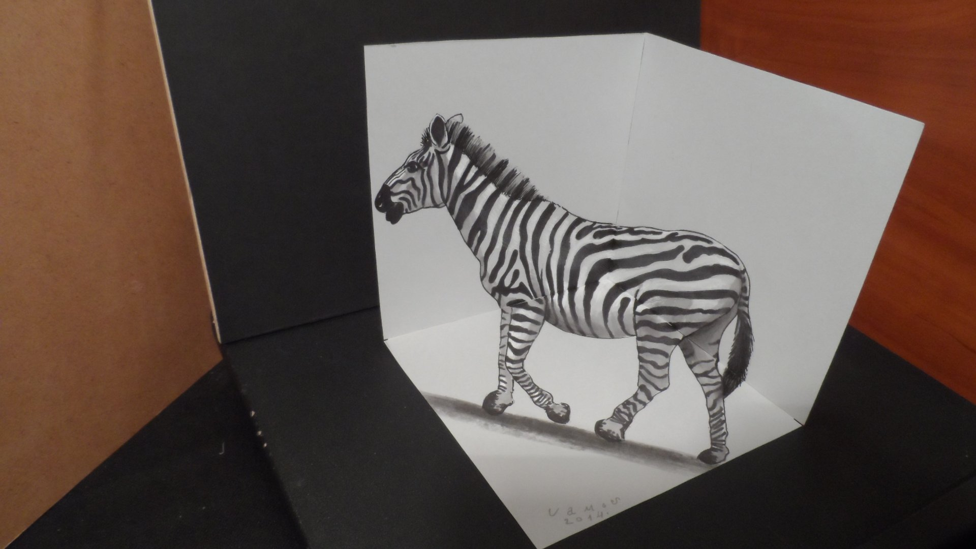 Drawn 3d art paper for kid Free download Drawing Paper Cool