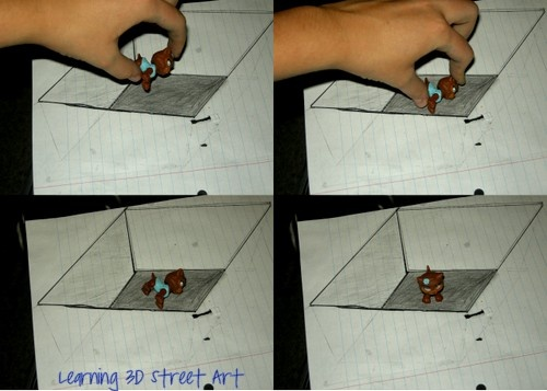 Drawn 3d art paper step by step How street create Pinterest drawing